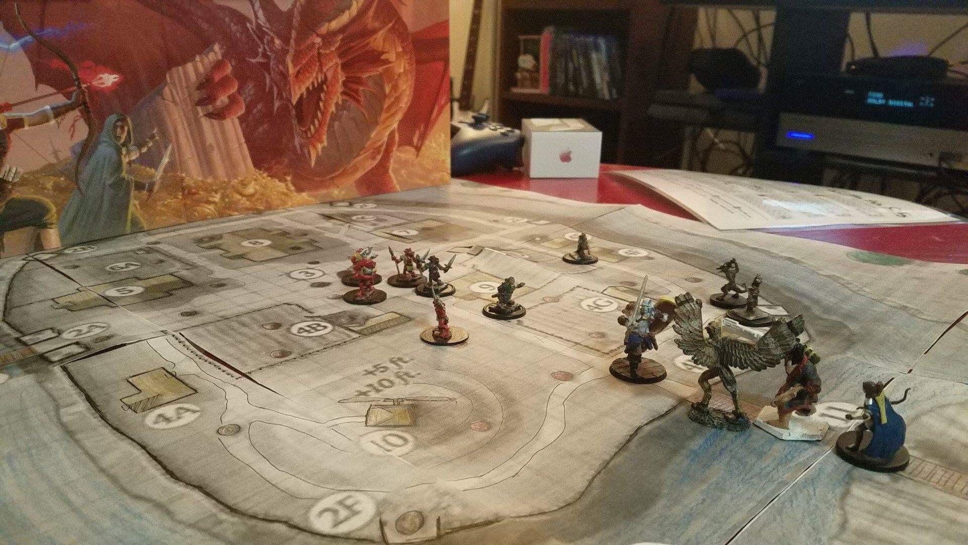 The goblins close in on Malagoth.