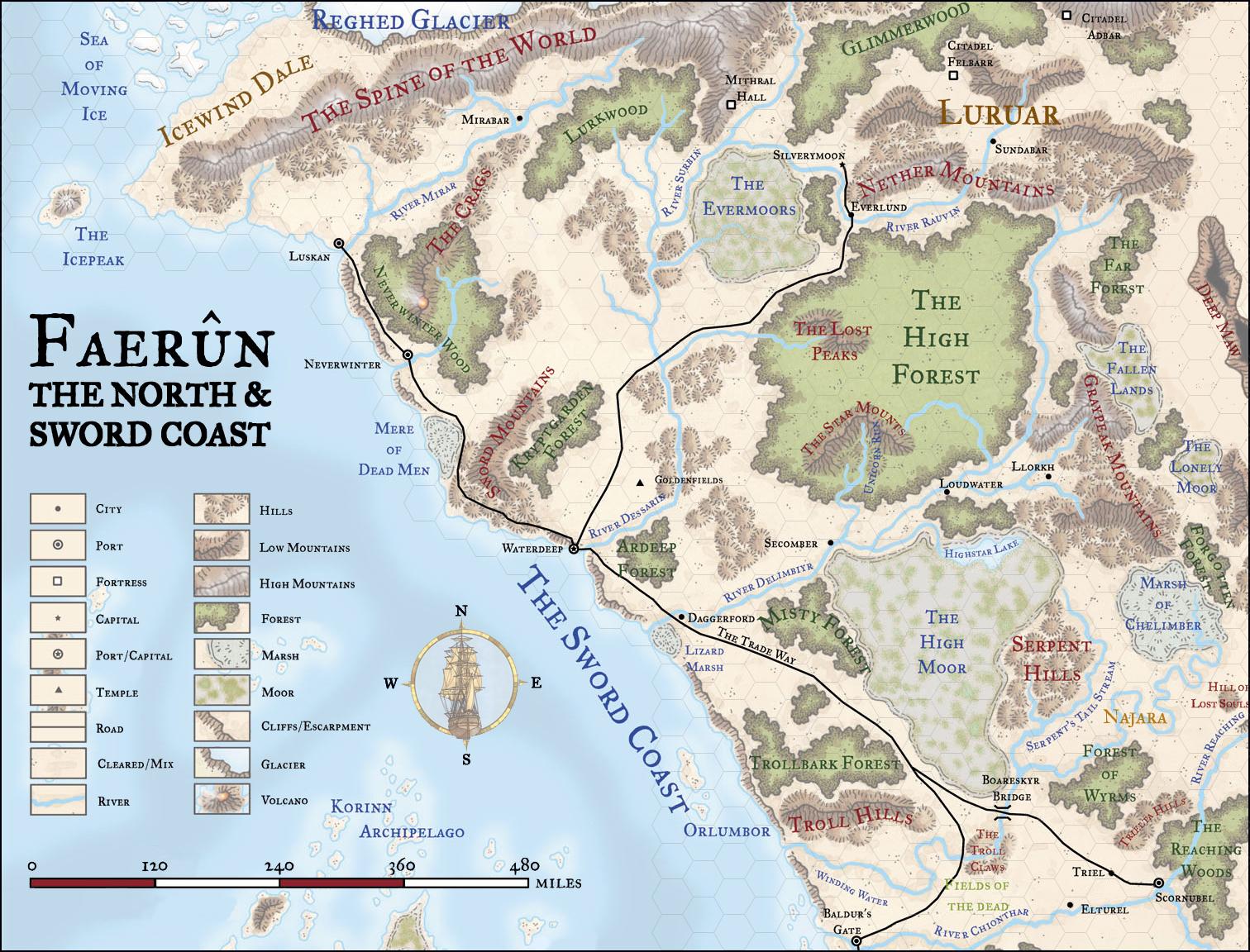 Faerun North Sword Coast