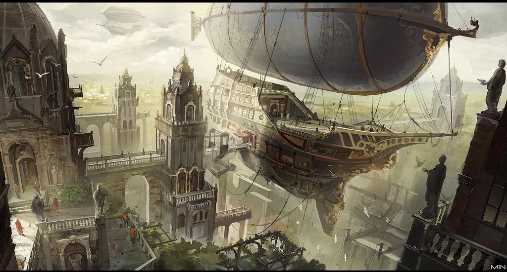 Docked airship