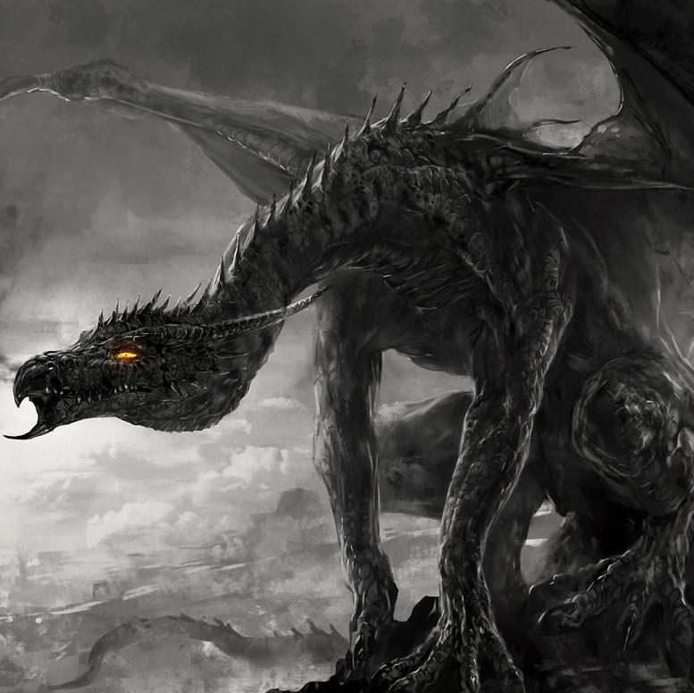 Ancient Black Dragon | Dooptopian Gods | Obsidian Portal