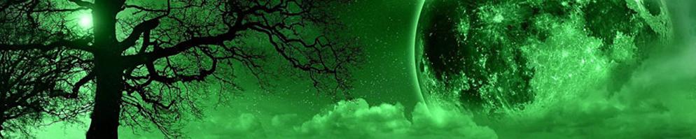 Green moon banner