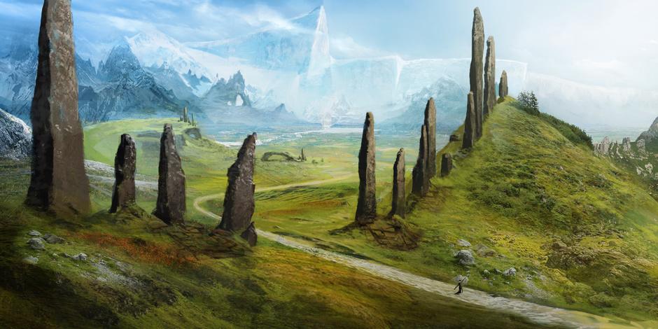 Fantasy Art Landscape Hillside
