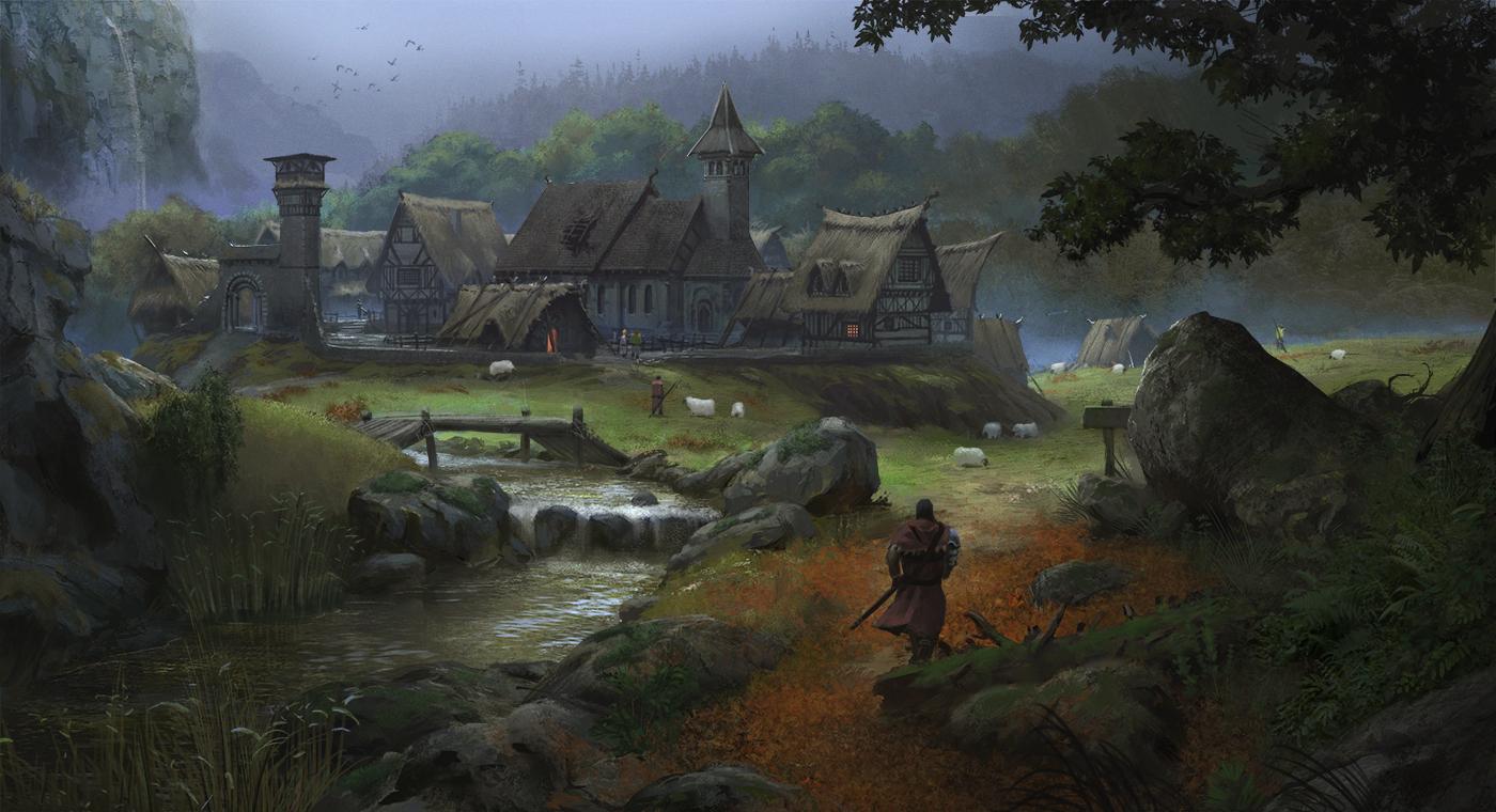 European medieval village by klauspillon d9667s2