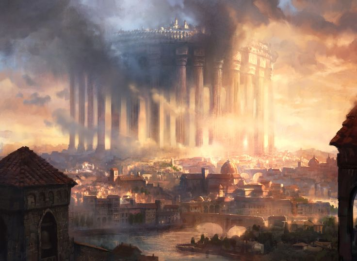 An image of a fantasy city.