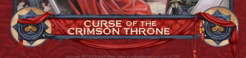 Curse of the crimson throne banner