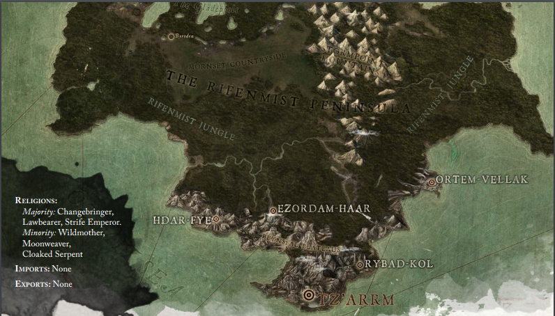 The Rifenmist Peninsula | Tal'Dorei: A World In Ruin