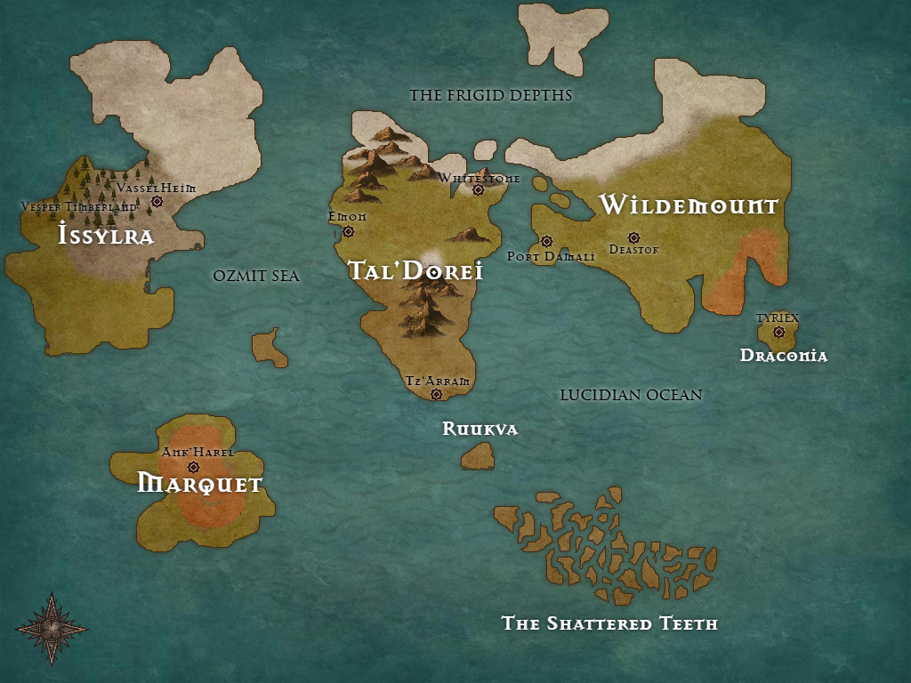 The World Map Tal Dorei A World In Ruin Obsidian Portal