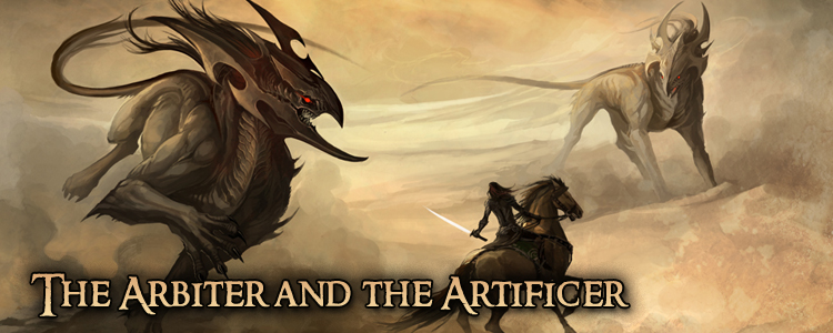 The arbiter and the artificer banner