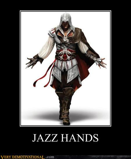 Demotivational posters jazz hands