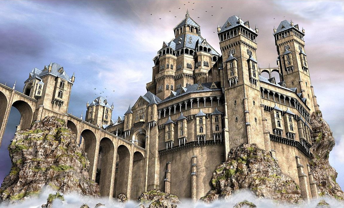 The old castle by e designer d33hvk0