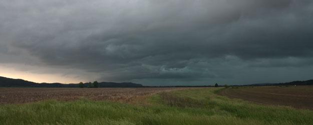 Black clouds rain