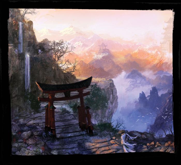 Legend of the Five Rings Mountain Tori Gate Scene