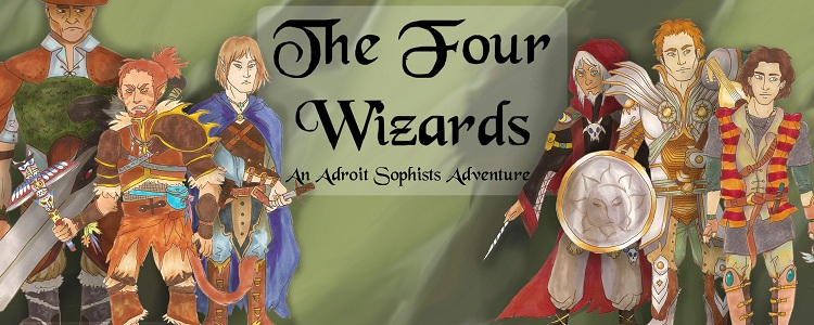 Four wizards banner