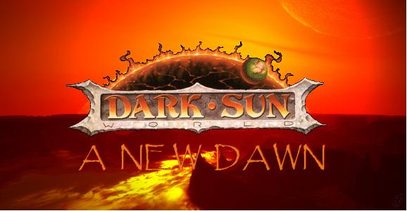 Dark sun dawn banner