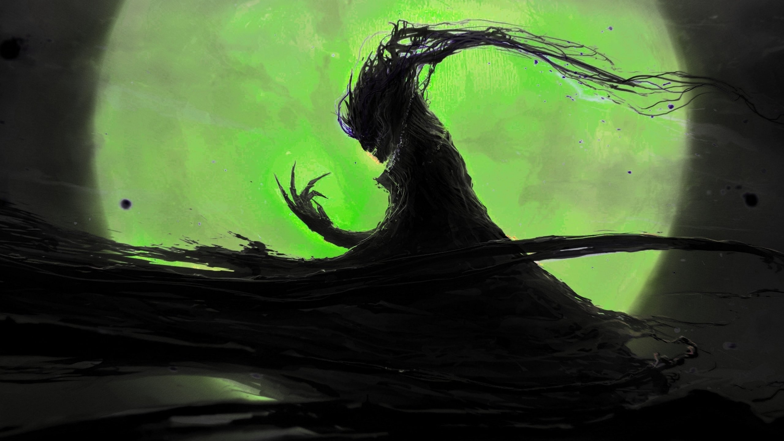 Demon evil dark horror fantasy monster art artwork 2560x1440