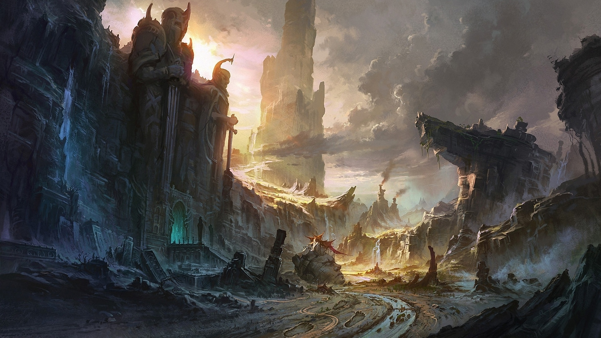 ancient-fortess-ruin-rock-debris-tower-statue.jpg