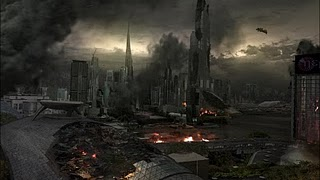 Caprica after the bombing2