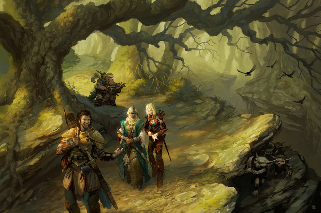 Introduction 2d fantasy goblins warriors journey elf dwarf picture image digital art