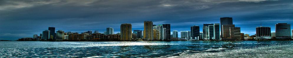 Miami skyline banner