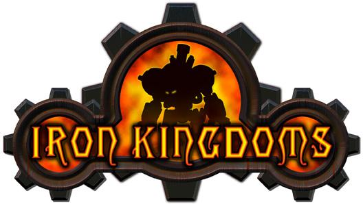 Iron kingdoms logo white