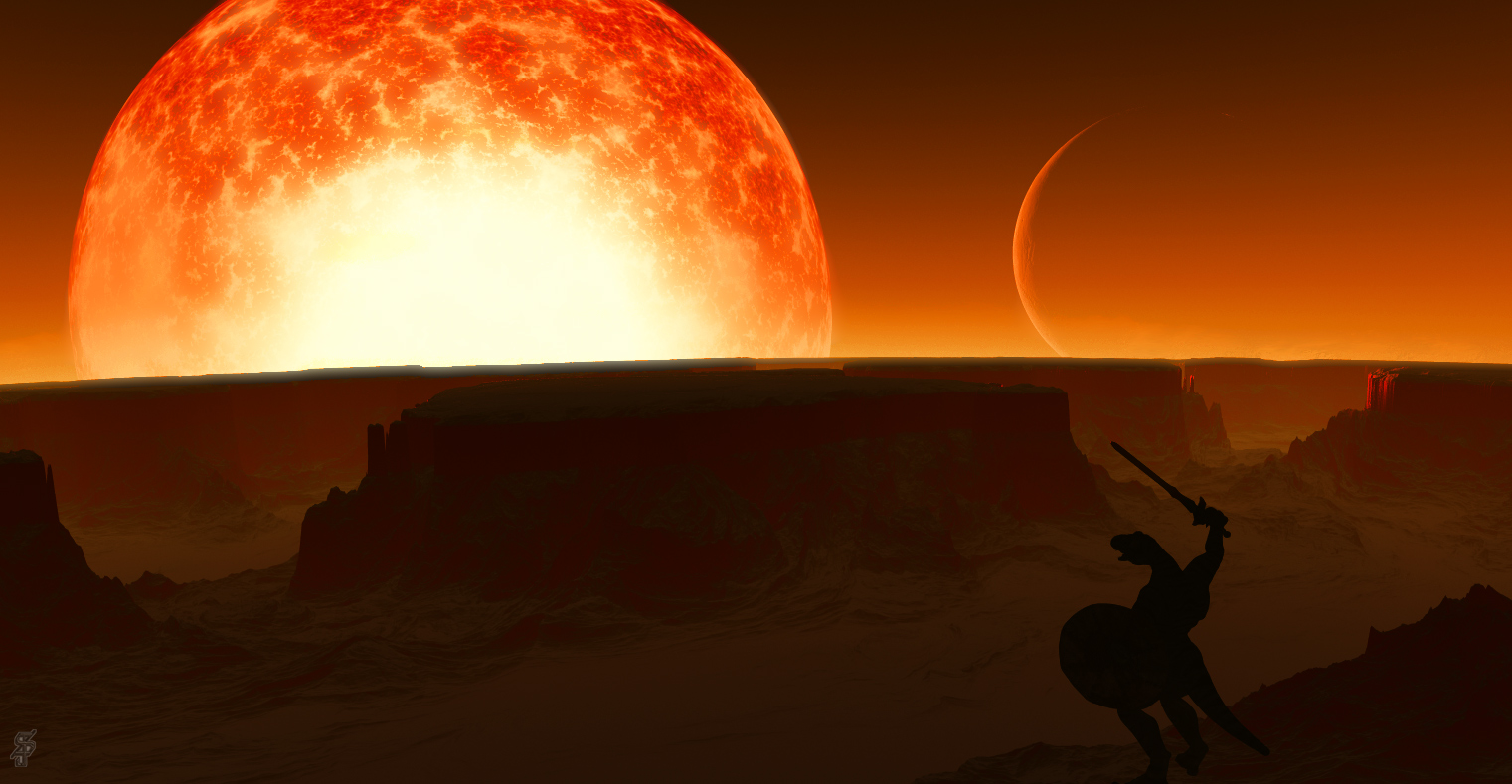 Dark sun salute sunset