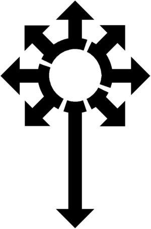 Chaos symbol tattoo by corrupt raige