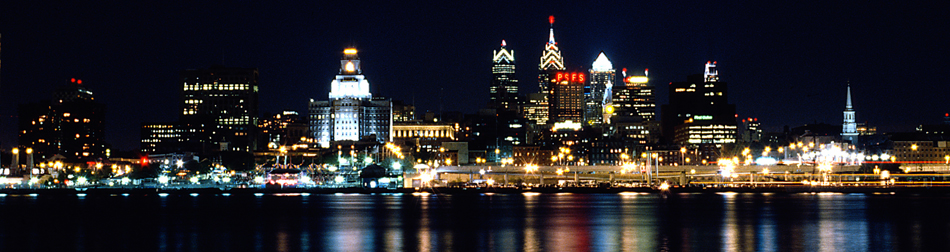 Phila skyline night