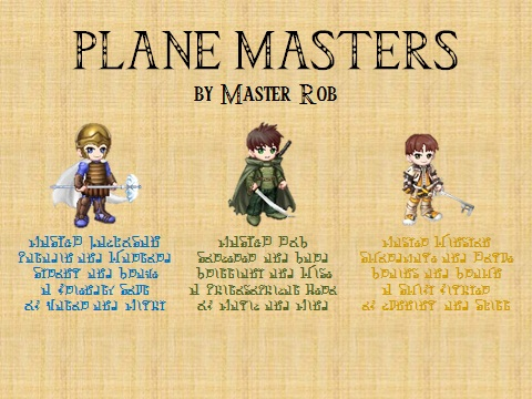 Plane masters banner
