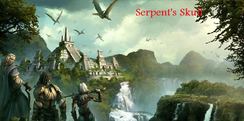 Serpent skull