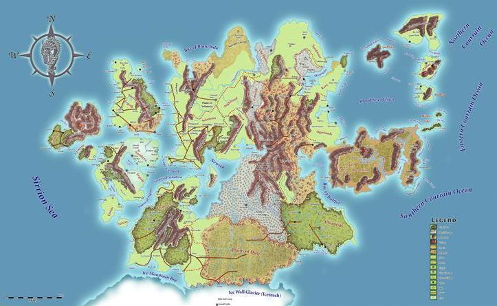 Map of ansalon  cut