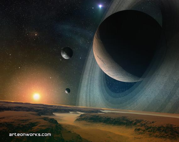 Planet stars sunset 200407 sm