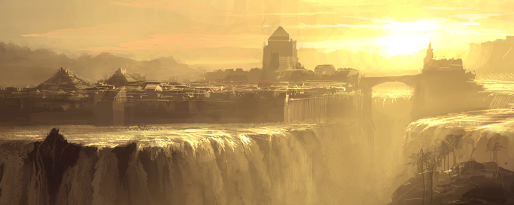 Waterfall city by artbytheo2