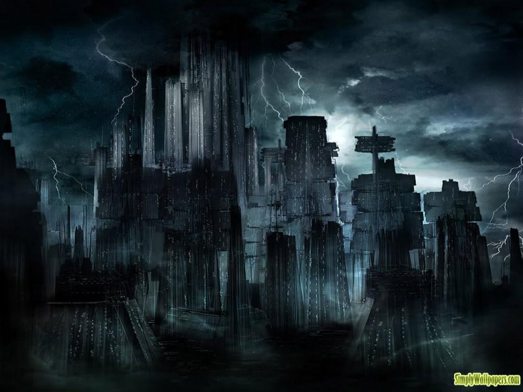 Dark cityscape 1024x768