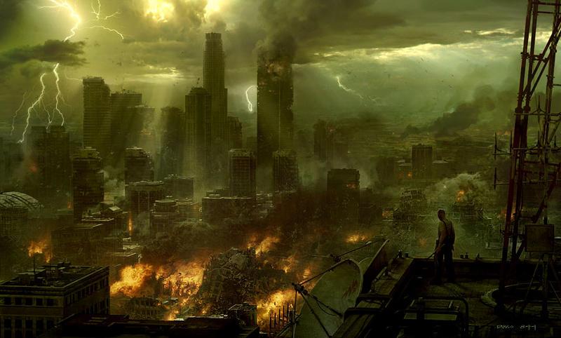 Post apocalyptic cityscape