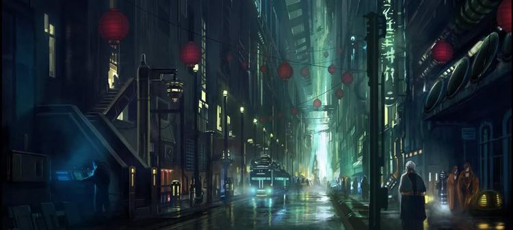 1500x831 5979 endless streets 2d sci fi cyberpunk city picture image digital art