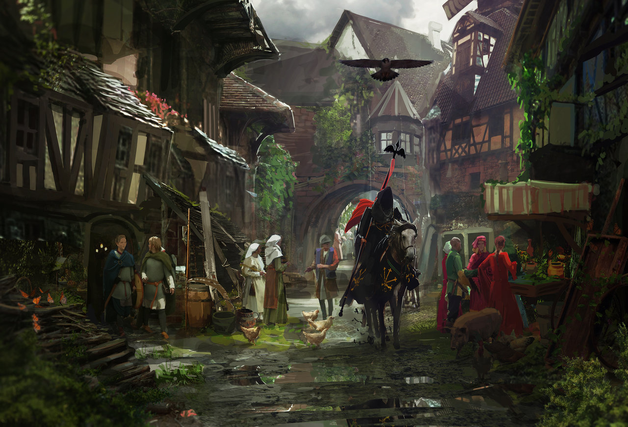 Medieval town by shutupandwhisper d6q07yv
