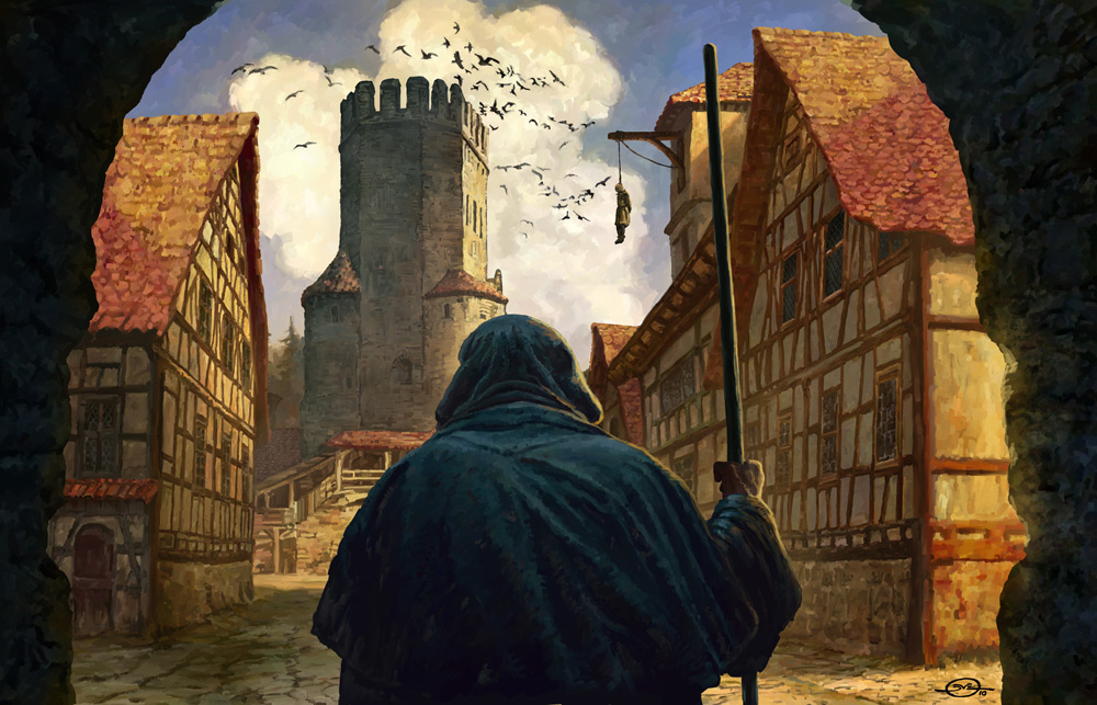 1000x643_7647_The_inquisitor_2d_illustration_castle_medieval_monk_tower_village_inquisitor_hanged_man_picture_image.jpg