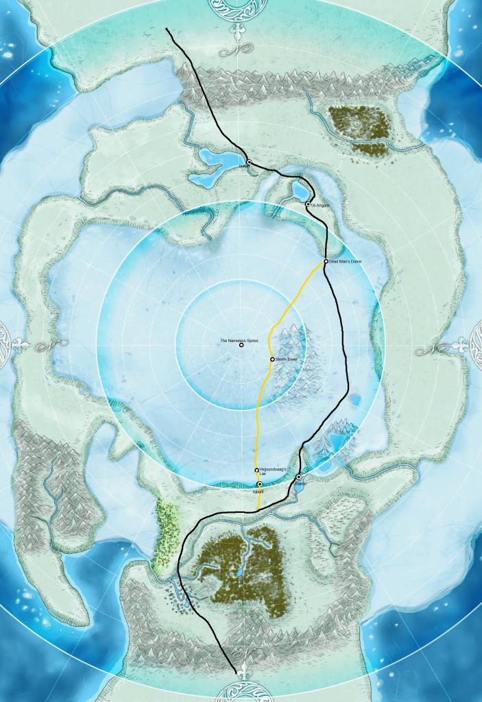Map of the High Ice   Jade Regent   Obsidian Portal