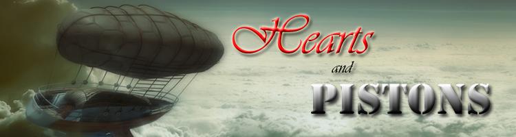 Steampunk airship logo