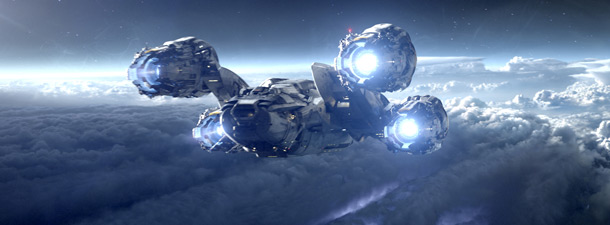 Prometheus spaceship banner