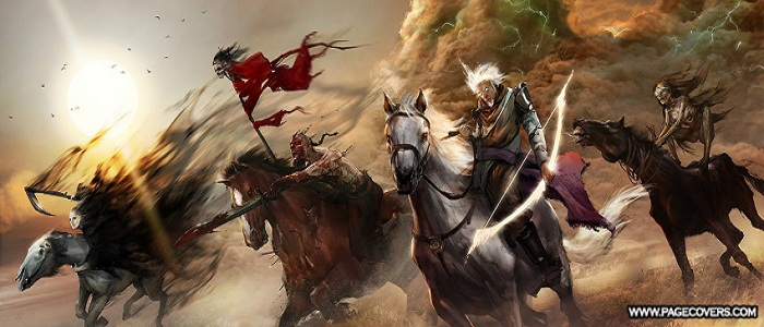 The four horsemen banner