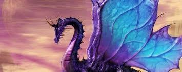 Amethyst dragon banner