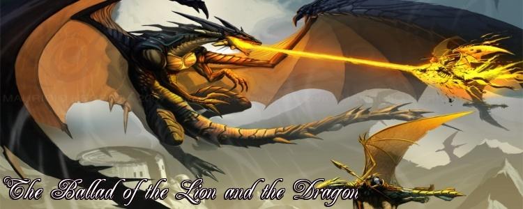 Lion and dragon