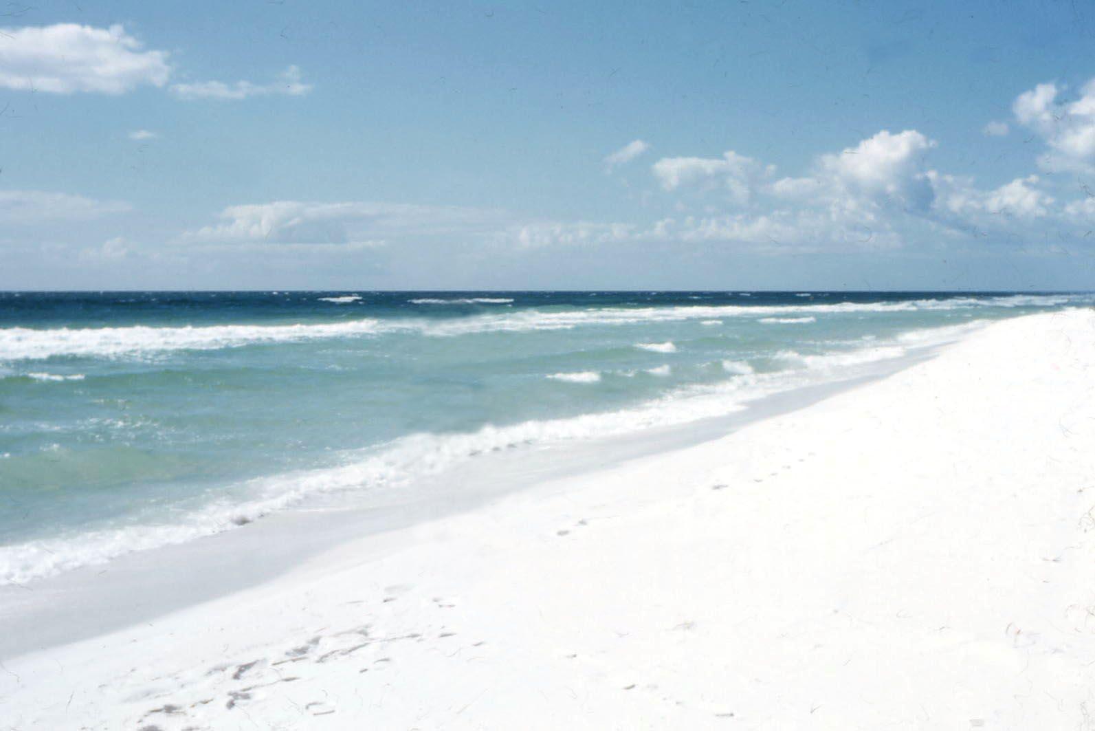 Pensacola beach 1957 white sand