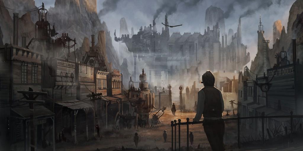 Steampunk town 1024x512
