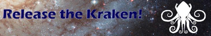 Release the kraken banner logo