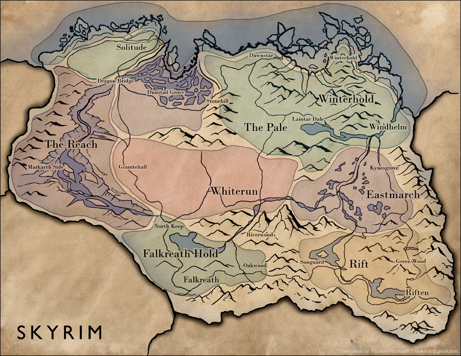 Skyrim map by thomas fischbach lg