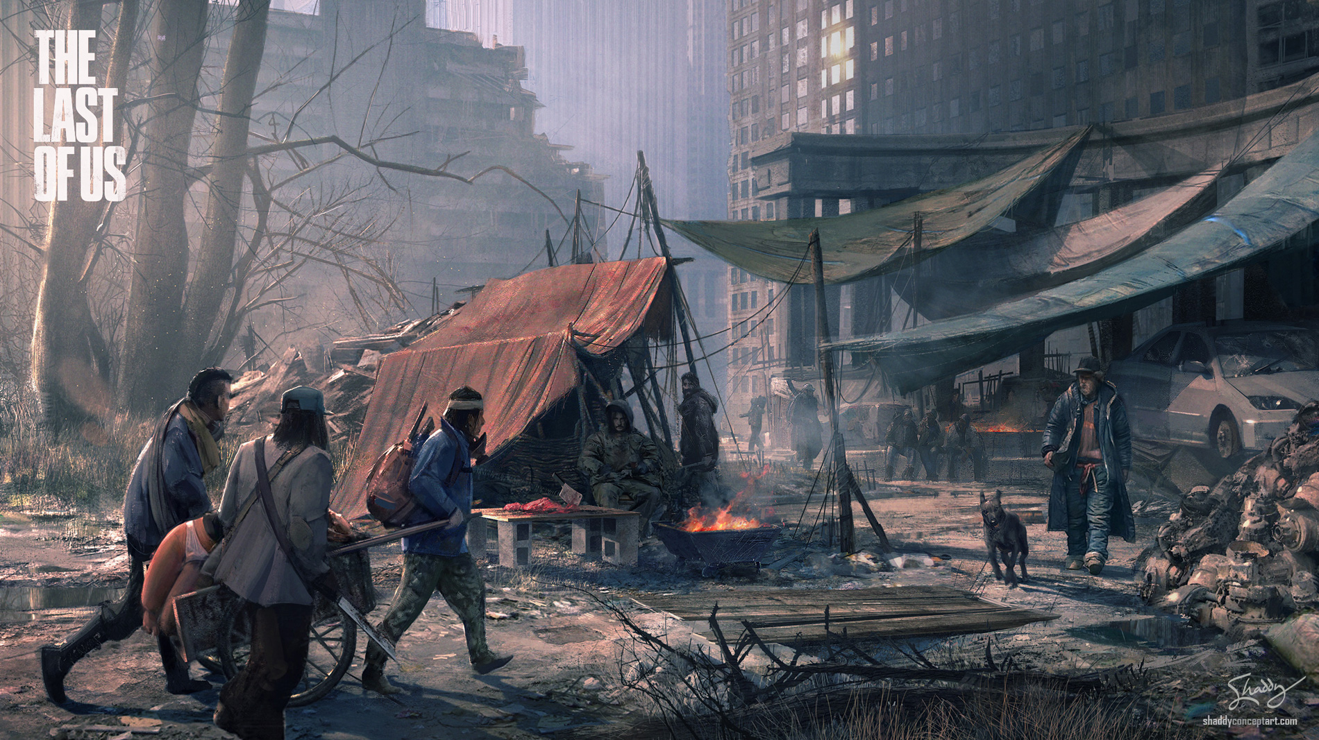 The last of us concept art hunter city ss 01