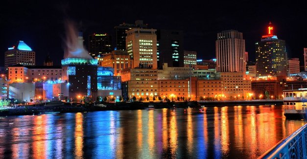 St. paul night skyline