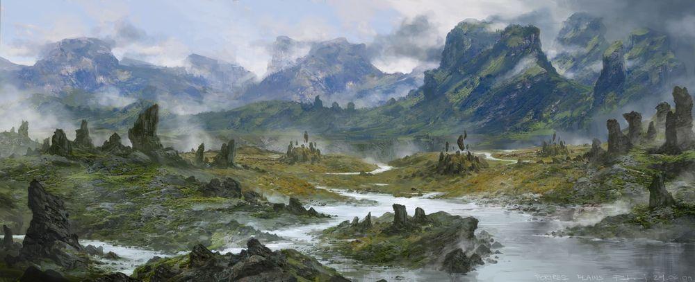 Fortress   foggy plains